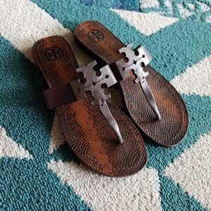 {Tory Burch} Moore Snake Print Sandals